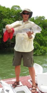 Dr. Jay Jones enjoys fishing again after hip replacement surgery by Dr. Robert Zehr
