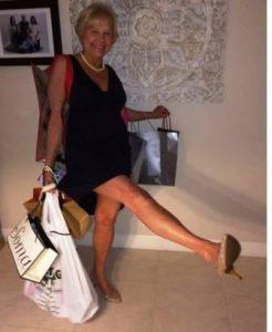 Ann Fleming enjoys shoe shopping after knee replacement surgery by Dr. Robert Zehr