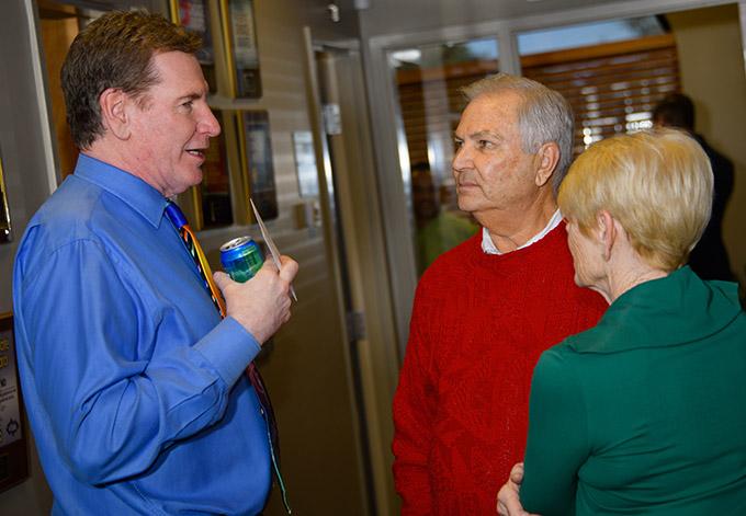 Dr. Robert Zehr with Dick and Nancy Klaas